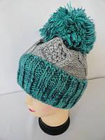 Женские шапки вязанные с отворотом