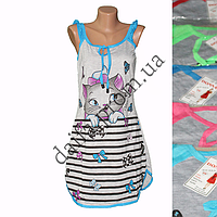 Женская котоновая ночная рубашка T6 оптом со склада на 7км.