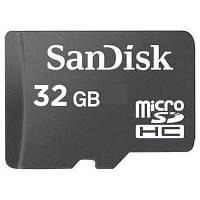 Флеш карта SanDisk microSD HC class 4 (SDSDQM-032G-B35N/SDSDQM-032G-B35) 32Gb, MicroSD, без адаптеров
