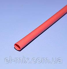 Трубка термоусадочна D4.5/d2.25 червона L-1м VW-1 NAR0257