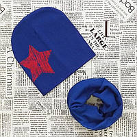 Демисезонный набор: детская шапка Звезда и снуд