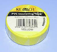 Изолента ПВХ Kemot 0,13x19x10Y (10 ярдов) желтая  NAR0426