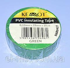 Изолента ПВХ Kemot 0,13x19x10Y (10 ярдов) зеленая  NAR0427