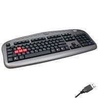 Клавиатура A4Tech KB-28G USB серебристый/серый (KB-28G-1)