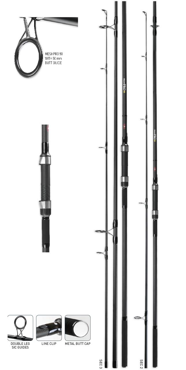 Профессиональное удилище Carp Zoom Mesh Pro Carp Rod, 13', 3,50lb, #50, 2 sections, 390 см