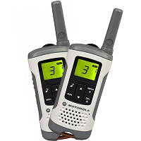 Рации Motorola TLKR T50 белый к 6 км, 0.5 Вт, 8 каналів, 121 субканалів, акумулятор, 5 мелодій виклику, радионяня