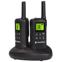 Рации Motorola TLKR T60 черный к 8 км, 0.5 Вт, 8 каналів, 121 субканалів, акумулятор, 5 мелодій виклику, радионяня