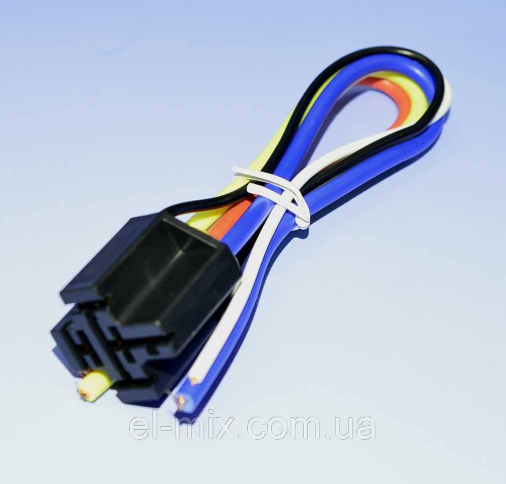Роз'єм для автомобільного реле 5 контактів з проводами PRE0008