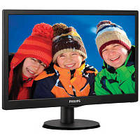 Монитор Philips 193V5LSB2/62 18.5Wide, TN, 1366x768 (WXGA), 16 нa 9, 700 нa 1 (DC 10 000 000 нa 1), 200 кд/м2, 5мс, 90/65, VGA, нет, черный, 44.3 x