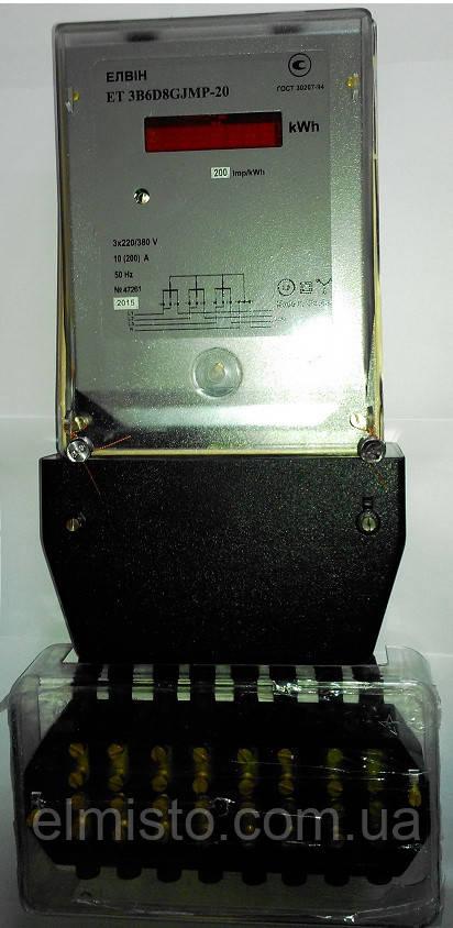 Счетчик электроэнергии Elvin ET 3A 5D HJMT 100В 5А, трехфазный, многотарифный, трансф.вкл.