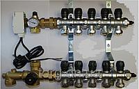 Коллектор латунный для теплого пола Maer 4 вых.