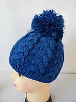 Вязанные теплые женские шапки с узором