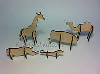 """Набор деревянных 3D-пазлов """"Животные"""" (под роспись, декупаж), фото 1"""