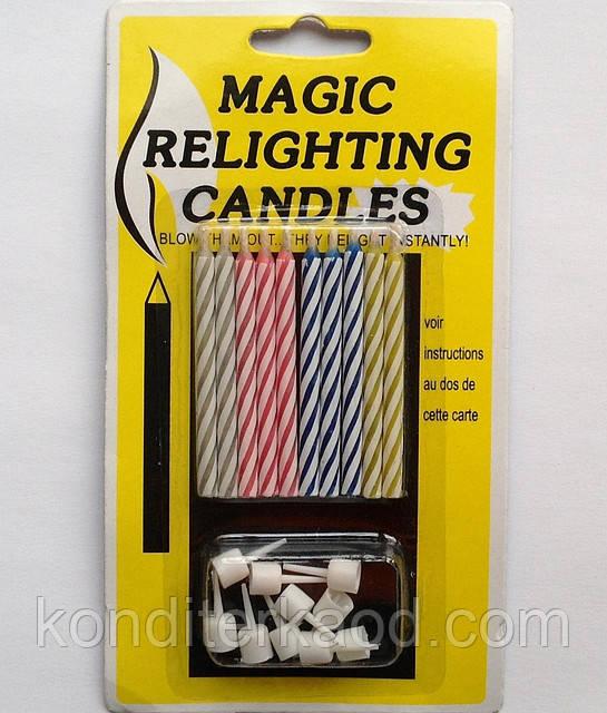 Свечи витые с подставками (10 шт)