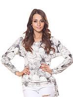 Женская блузка с цветочным принтом