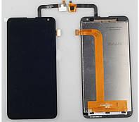 Дисплей (экран) + сенсор (тач скрин) FLY IQ4514 Quad EVO Tech 4 black (оригинал)
