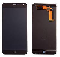 Дисплей (экран) + сенсор (тач скрин) MEIZU M1 Note black (оригинал)