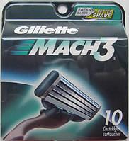 Лезвия Gillette Mach3 DLC, 10 Cartridges , фото 1