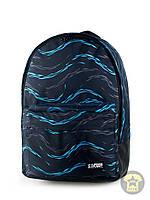 Рюкзак, наплечник 25 Л ( с отделением для ноутбука ) Urban Planet - Drops Sky ( тёмно-синий \ голубой )