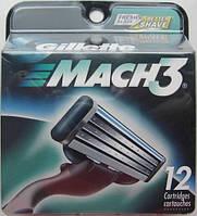 Кассеты Gillette Mach3 DLC, 12 штук в упаковке, фото 1