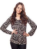 Женская блузка с леопардовым принтом (в размере S, M), фото 1