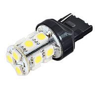 2-х контактная светодиодная лампа цоколь T20, W21/5W (7443 W3x16q) 13-SMD 5050, 180Lm, 12В