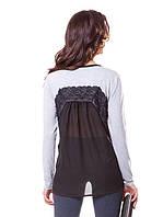 Женская блузка c прозрачной спиной (в размере 2XL)