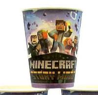 """Стаканчики одноразовые бумажные детские """"Minecraft 2"""""""