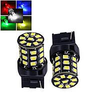 2-х контактная светодиодная лампа цоколь T20, W21/5W (7443 W3x16q) 33-SMD 2835, 660Lm, 12В