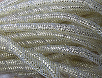 Регилин трубочка 1 см белый  19256