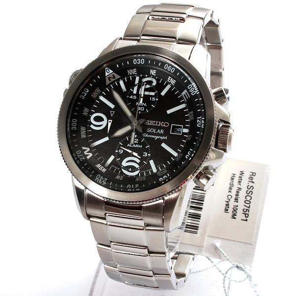 Часы Seiko SSC075P1 хронограф SOLAR В.