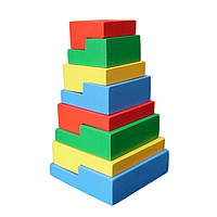 Пирамидка-головоломка 8 эл., Komarovtoys
