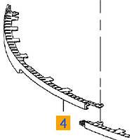 Спойлер (губа резиновая нижняя) переднего бампера нижний правая половинка (чёрная резино-пластиковая) GM 6400650 1400424 13269823 13238292 13269821
