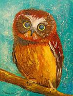 «Маленькая сова» картина маслом