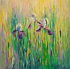 «Ирисы в поле» картина маслом