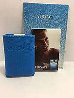 Мини-парфюм в кожаном чехле 20мл. Мужская туалетная вода Versace Man Eau Fraiche Versace  AZD /3-1