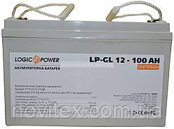 Аккумулятор гелевый Logicpower LPM-GL 12V 100AH
