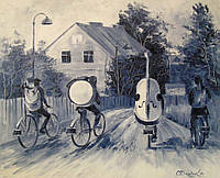 «Уличные музыканты» картина маслом