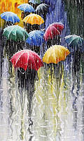 """Алмазная мозаика """"Зонтики"""", картина стразами 40*50см"""