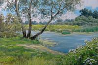 «На берегу речки Сула» картина маслом