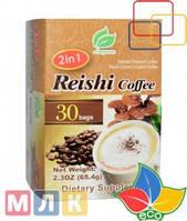Longreen Corporation 2 в 1 быстрорастворимый колумбийский кофе с экстрактом гриба рейши, 30 пакетиков по 65.4 г