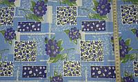 Ситец с голубыми цветами на голубом фоне