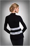 Блузка, кофточка женская черная с длинным рукавом Eldar LUCRECIA офисная классическая одежда, фото 2
