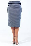 Классическая женская юбка серого цвета