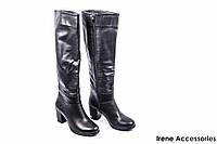 Ботфорты женские кожаные Aquamarin (сапоги высокие d41e07b246c5f