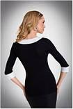 Блузка, кофточка женская черная с длинным рукавом Eldar MANDY офисная деловая одежда , фото 2