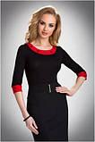 Блузка, кофточка женская черная с длинным рукавом Eldar MANDY офисная деловая одежда , фото 3
