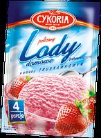 Порошок для приготовления мороженного Lody domowe Cykoria со клубничным вкусом, 60 гр