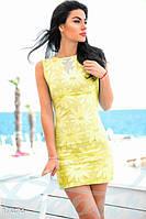 Желтое платье с пайетками S M