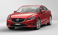 Ветровики с хромом, дефлекторы окон Mazda 6 2013-, фото 1